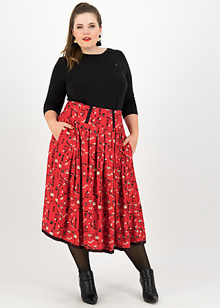 crowningday skirt, secret midnight lights, Skirts, Red