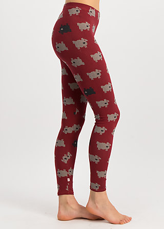 golden cage legs, the black sheep, Leggings, Red