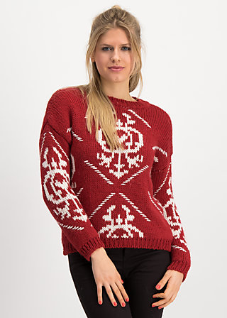 molly wolly pully, queens crown, Pullover & leichte Jacken, Rot