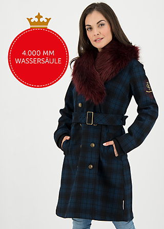 noblesse oblige coat, royal check, Jackets & Coats, Blue