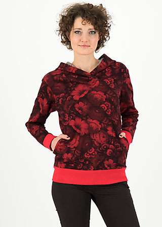 okinawa residence sweat, hidden garden flowers, Jumpers & lightweight Jackets, Red
