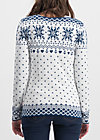 sleek and chic zip, norwegian snowflake, Jumpers & lightweight Jackets, White