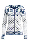 sleek and chic zip, norwegian snowflake, Pullover & leichte Jacken, Weiß