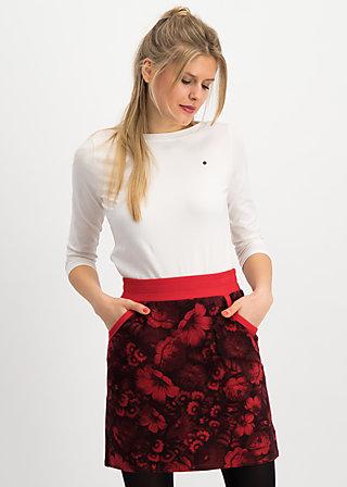 Sweat Skirt team queen, hidden garden flowers, Skirts, Red