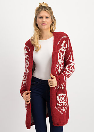 wolly wonderful cardycoat, queens crown, Pullover & leichte Jacken, Rot