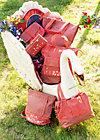 polarlight handbag, paprika, Handtaschen, Rot