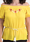 bees and birds blouse, sunflower crepe, Blusen & Tuniken, Gelb