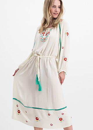 bohemian beauty robe, icecream crepe, Kleider, Weiß