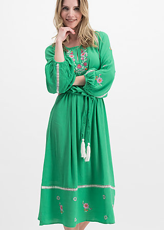 bohemian beauty robe, smaragd crepe, Dresses, Green
