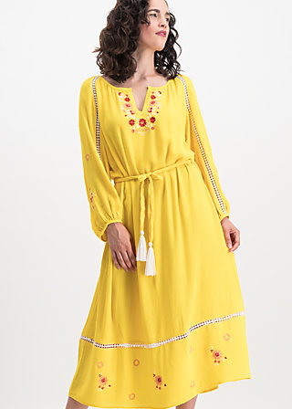 bohemian beauty robe, sunflower crepe, Kleider, Gelb