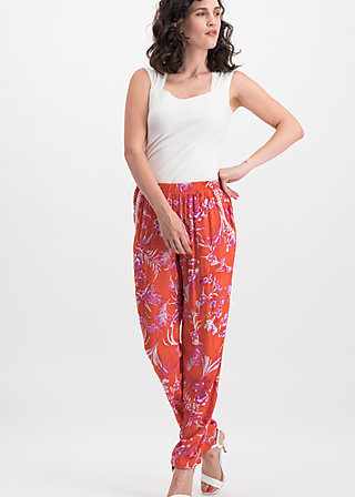 going easy pants, tangerine tropical, Trousers, Orange