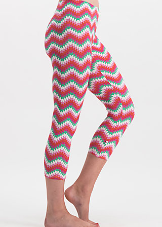 happy capri legs, hippie zig zag, Leggings, Rosa