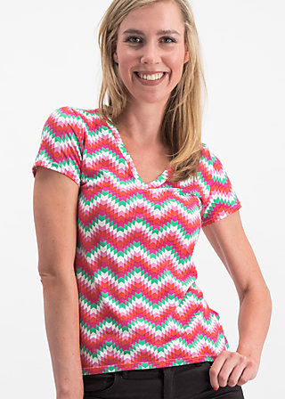 hooray and up tee, hippie zig zag, Shirts, Rosa