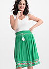 lady doll skirt, smaragd crepe, Röcke, Grün
