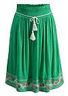 lady doll skirt, smaragd crepe, Skirts, Green