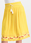lady doll skirt, sunflower crepe, Röcke, Gelb