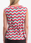 miss charming top, hippie zig zag, Shirts, Pink
