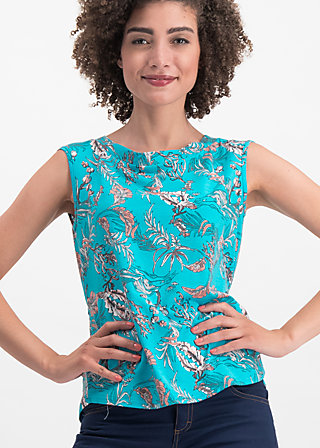 miss charming top, under the sea, Shirts, Blue