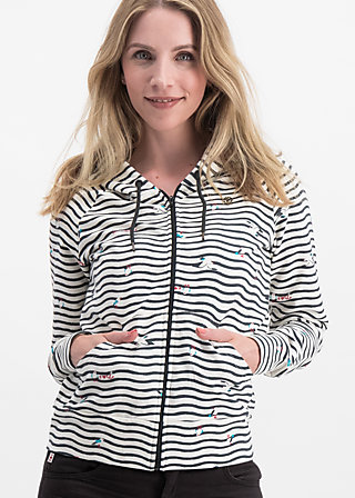 sandy beach, seagull stripe, Jumpers & lightweight Jackets, White