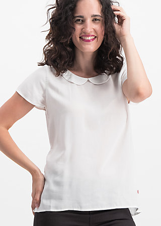 slip sloup blouse, white chalk, Blouses & Tunics, White