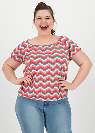 sommerhaus veranda shirt, hippie zig zag, Shirts, Rosa