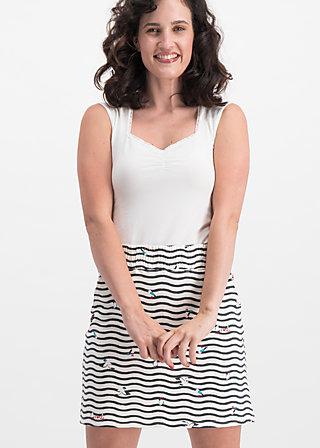 sporty sister joggskirt, seagull stripe, Skirts, White