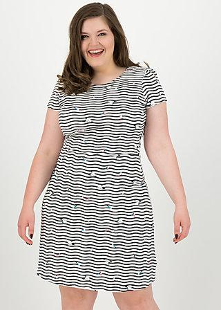 squeeze me tease me dress , seagull stripe, Kleider, Weiß