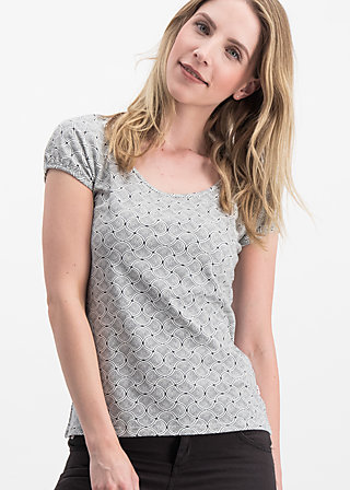 strandhaus romance tee, sea shells, Shirts, Grau