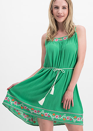 summer in the city dress, smaragd crepe, Kleider, Grün
