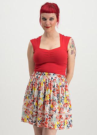 summerbreeze daydream skirt, happy zig zag, Röcke, Rot