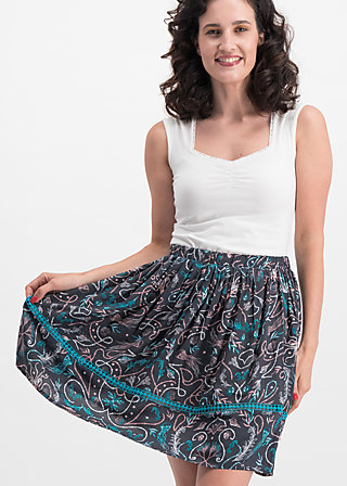 summerbreeze daydream skirt, underwater love, Skirts, Black