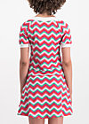 sunkissed shoulder dress, hippie zig zag, Dresses, Pink
