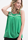 sunshine picknick top, smaragd crepe, Shirts, Green