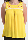 sunshine picknick top, sunflower crepe, Shirts, Yellow
