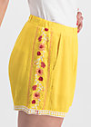 superwelle legs, sunflower crepe, Trousers, Yellow