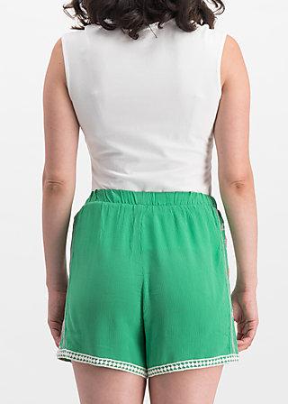 superwelle legs, smaragd crepe, Hosen, Grün