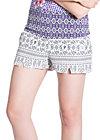 wow galao shorts, white beach jacquard, Hosen, Weiß