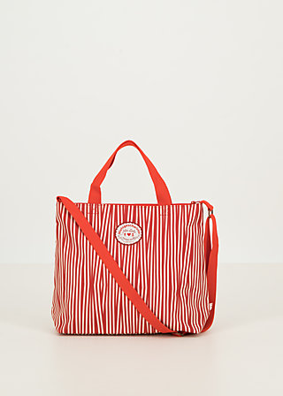 eternal love shopper, full of stripes , Accessoires, Red