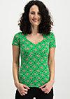 pow wow luau tee, joyful flower, Shirts, Green