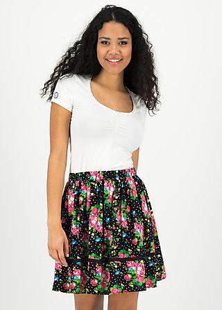 summerbreeze daydream skirt, garden of joy, Röcke, Schwarz