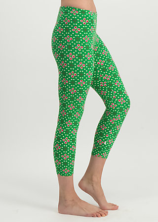 sweet legs of mine, joyful flower, Leggings, Green