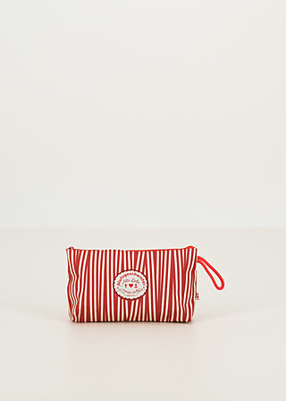 sweethearts washbag, full of stripes , Accessoires, Red