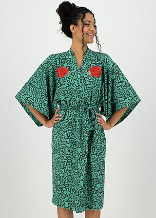wellness kimono jersey, heartbeat of street, Accessoires, Grün