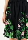 botanical attraction robe, tropical night, Dresses, Black