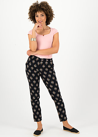 Summer Pants careless lightweight, miami masque, Trousers, Black