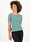 Off-the-shoulder Top carmelita, tendril tarzan, Shirts, Blue