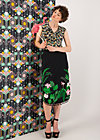 coast to coast jupe, tropical night, Skirts, Black
