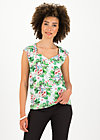 flaming heart blousetop, beach babe, Shirts, Weiß