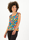 flaming heart blousetop, florida lady, Shirts, Blau