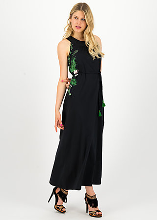 florida flora dress, tropical night, Kleider, Schwarz